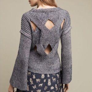 Anthropologie NWT La Fee Vert Cutout Sweater M